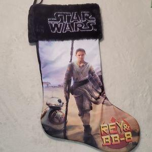 Star Wars Rey and BB8 stocking
